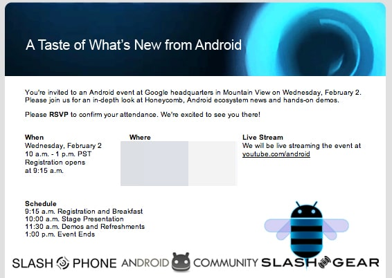 Zaproszenie Android