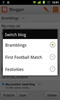 Aplikacja Blogger
