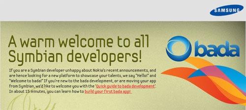 Zaproszenie Samsunga dla programistów Symbian-a