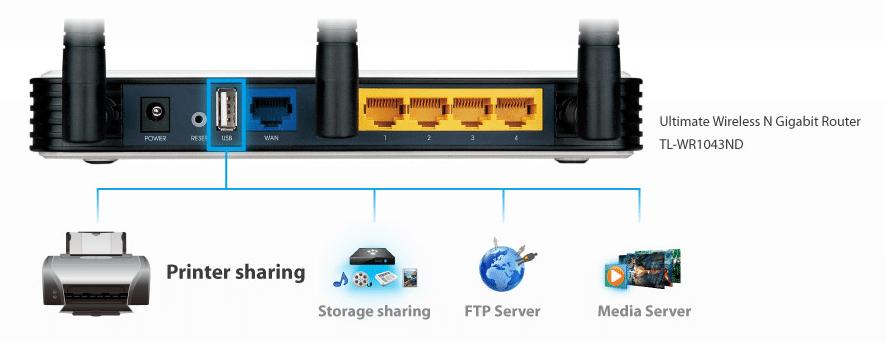 Router TL-WR1043ND z funkcją serwera druku