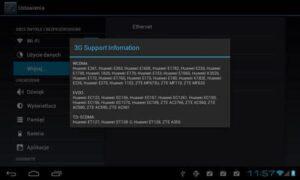 wsparcie modemów 3G dla tabletu tracer ovo 1.2