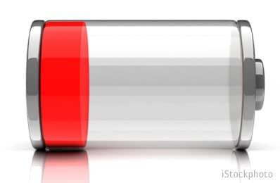 rozładowana bateria