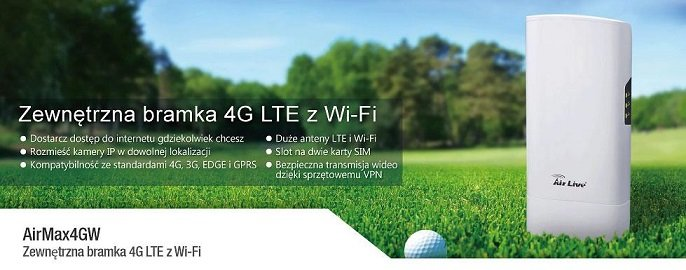 AirMax 4GW - urządzenie udostępniające sieć WiFi z technologią 4G LTE
