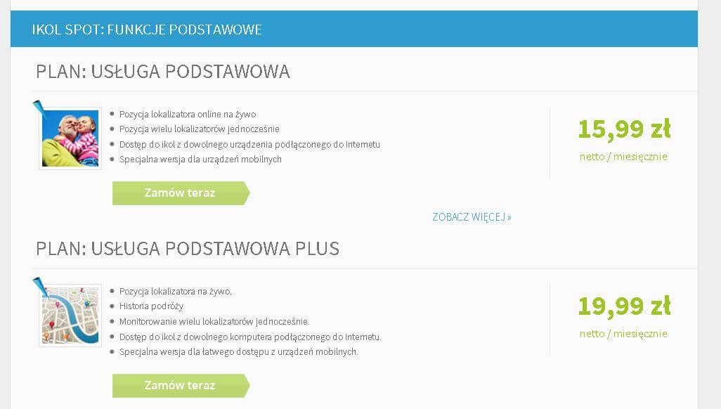 Moduł IKOL Spot - usługi
